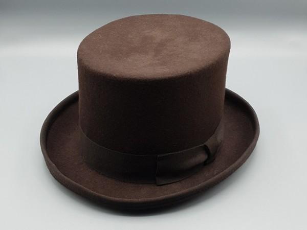 Sombrero de Copa Steampunk marrón, large - 59 cm