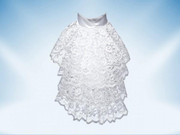 Cuello de encaje blanco