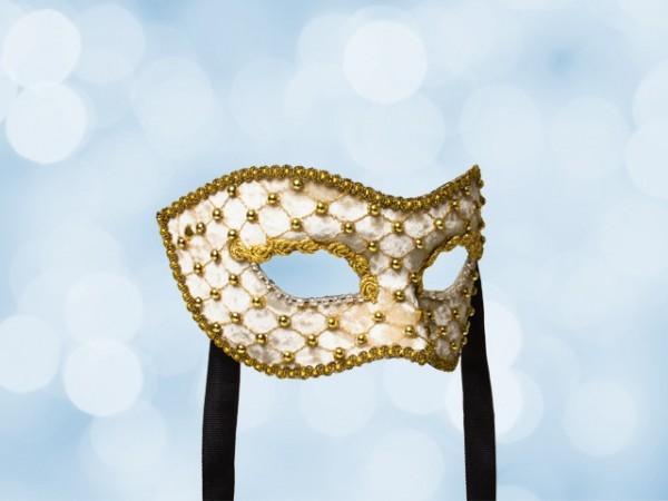 Máscara Baile de máscara en beis