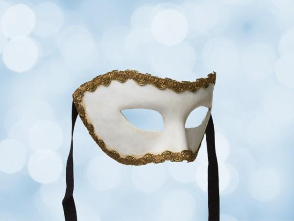 Máscara blanca de fiesta