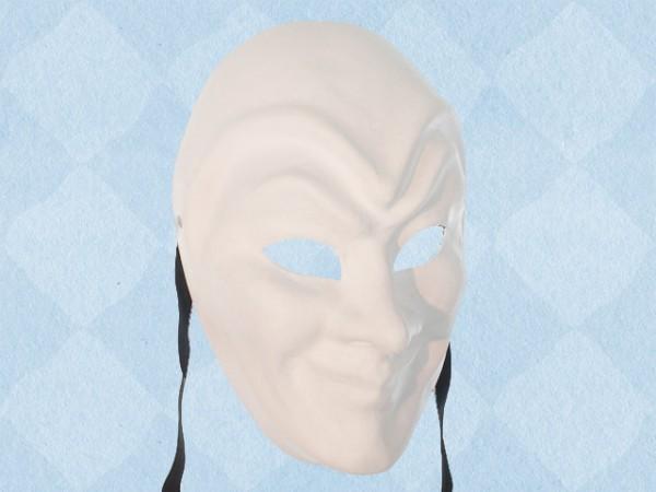 Máscara blanca sencilla de Bufón