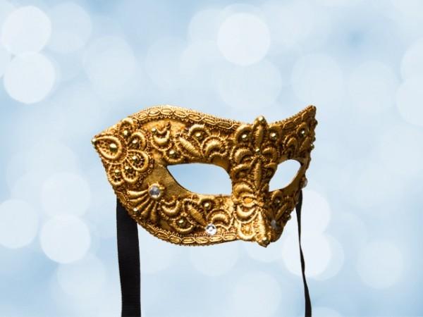 Máscara de baile veneciano para
