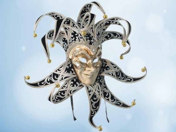 Máscara del Guasón en terciopelo negro