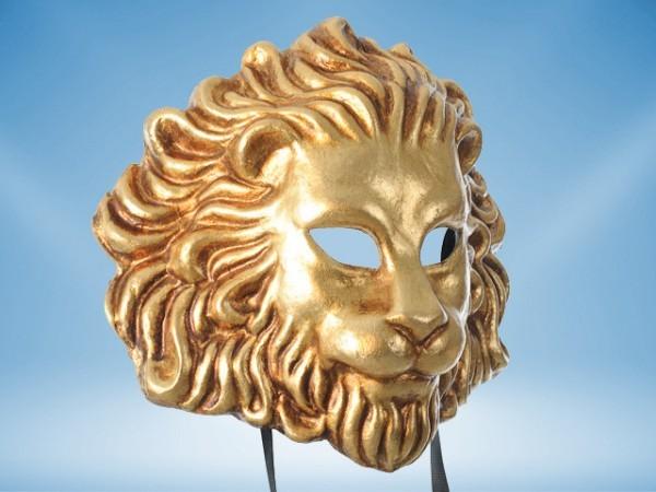 Máscara dorada de León