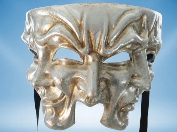 Máscara Halloween en plateado