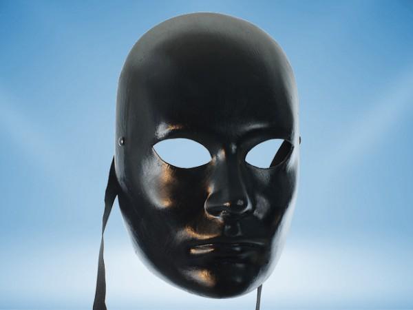 Máscara Negra de rostro completo