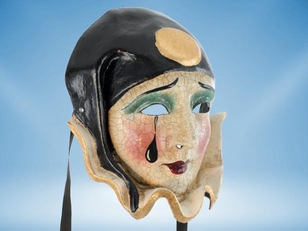 Máscara Pierrot lujosa, con cuello