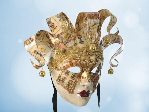 Máscara veneciana de Pared con barajas