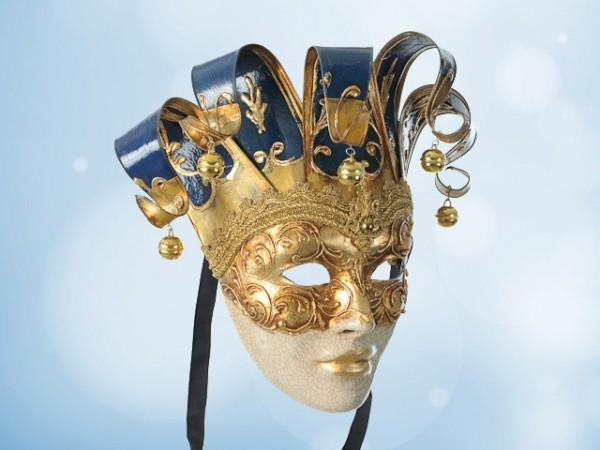 Máscara veneciana de Pared en azul
