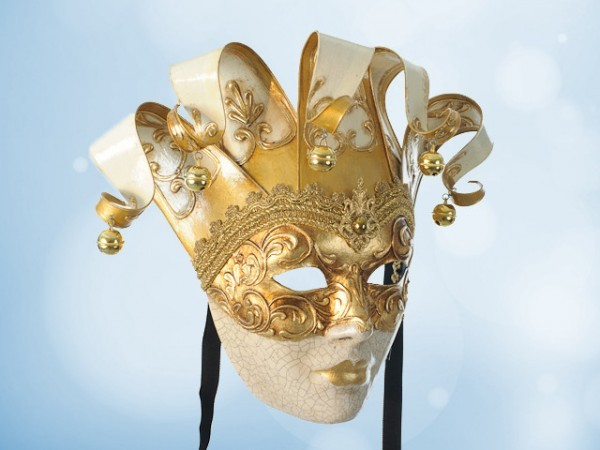 Máscara veneciana de Pared en blanco
