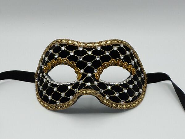 Máscara Baile de máscara en negro