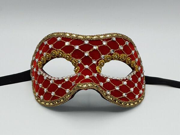 Máscara Baile de máscara en rojo