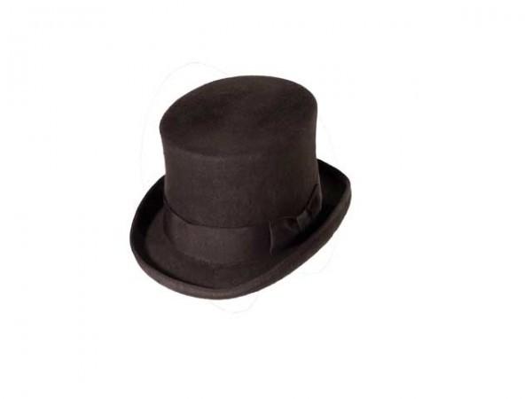 Sombrero de Copa Steampunk marrón, small - 56 cm